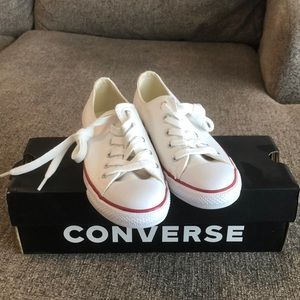 Converse All Star Canvas White Women's Size 5